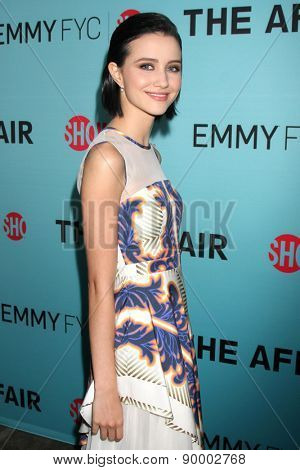"LOS ANGELES - MAY 5:  Julia Goldani Telles at the Showtime's ""The Affair"" Screening Event And Panel Discussion at the Samuel Goldwyn Theater on May 5, 2015 in Beverly Hills, CA"