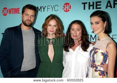 """LOS ANGELES - MAY 5:  Joshua Jackson, Ruth Wilson, Maura Tierney, Julia Goldani Telles at the Showtime's """"The Affair"""" Screening Event at the Samuel Goldwyn Theater on May 5, 2015 in Beverly Hills, CA"""