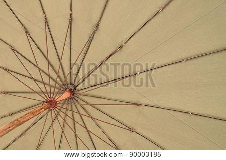 Close Up Bottom View Of A Beach Umbrella
