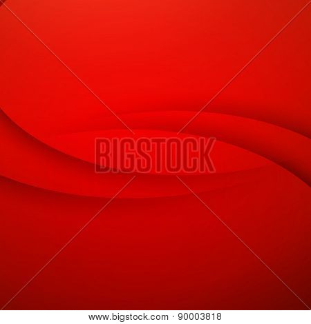 Red vector Abstract background with curves lines