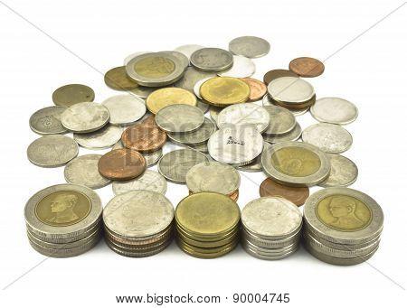 Close Up Of Thai Coins