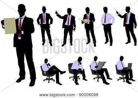 10 high quality businessman silhouette