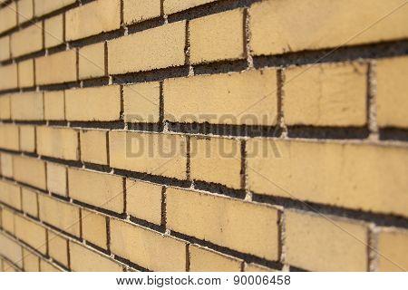 Yellow Brick Wall Angled