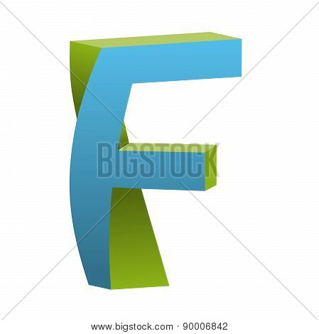 Twisted Letter F Logo Icon Design Template Element