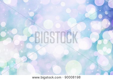 Festive Background With Natural Bokeh And Bright Golden Lights. Vintage Magic Background With Color