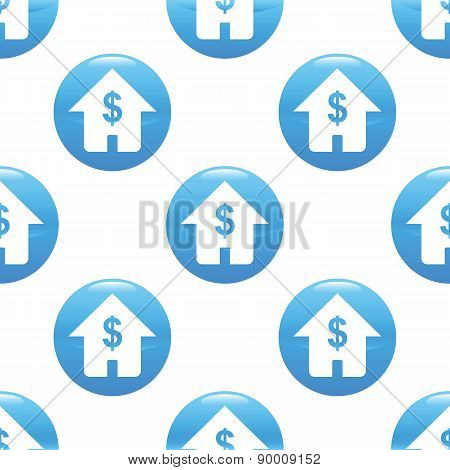 House with dollar sign pattern