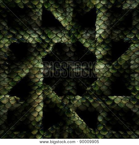 Snake Pattern Crosswise