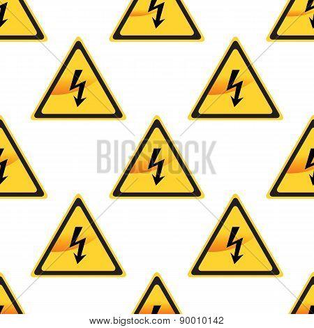 High Voltage sign pattern