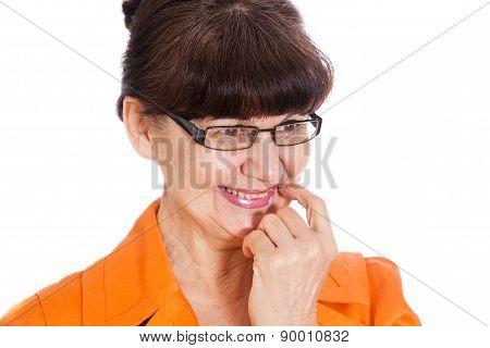 Pension age good looking woman portrait