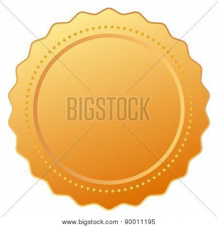 Blank gold certificate