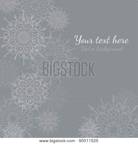 vector background with snowflake for your text.