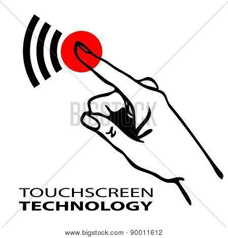Touchscreen symbol