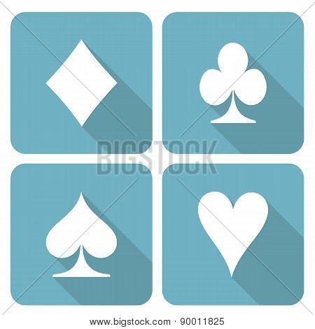 Card symbols icon set