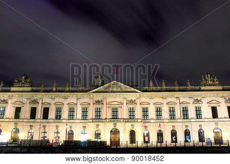 Zeughaus (old Arsenal) In Berlin By Night