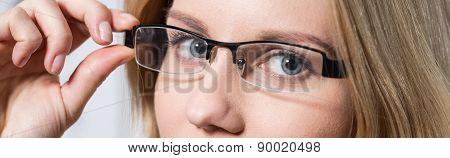 Eyes Behind Glasses
