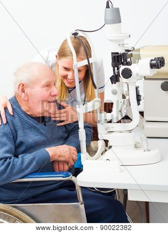 Old Man At The Ophthalmologist's
