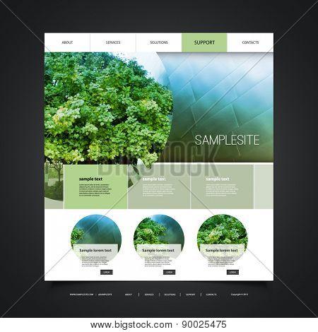 Website Design for Your Business with Eco Header Design