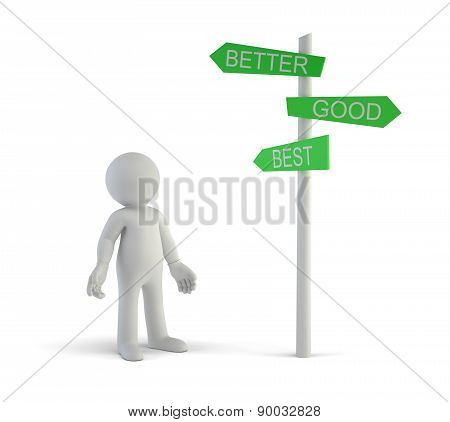3D Small People - Good Better Best Directional