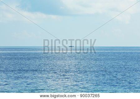 View of beautiful blue ocean water in resort