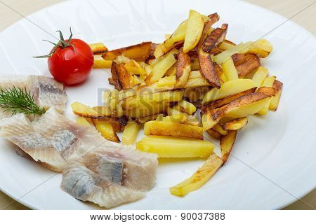 Roasted Potato With Herring Fillet