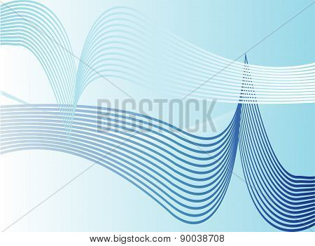 Vector blue Background Abstract Design