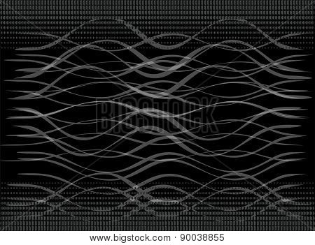 Vector illustration of black-and-white geometric pattern