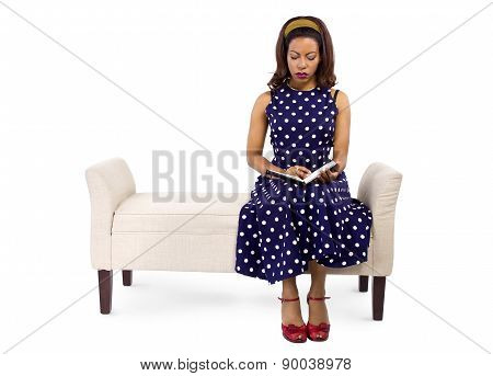 Female Author in Retro Vintage Clothing