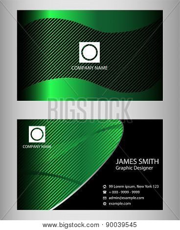 Black and blue Company business card