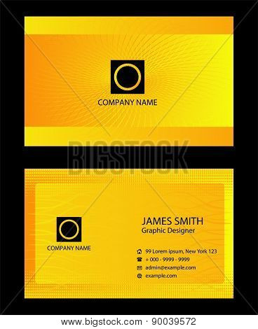 Yellow business cards set