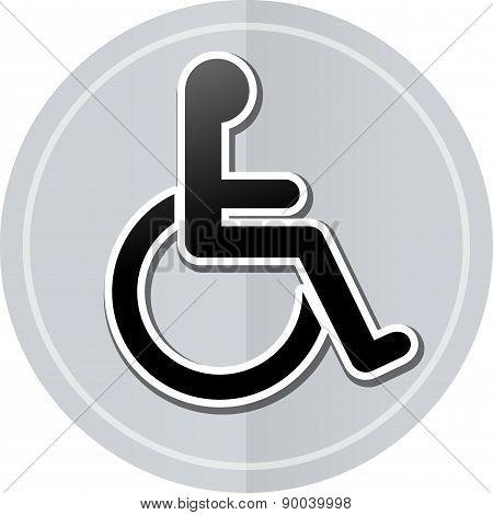 Wheelchair Sticker Icon