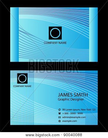 Business card black and blue