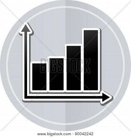 Graph Sticker Icon