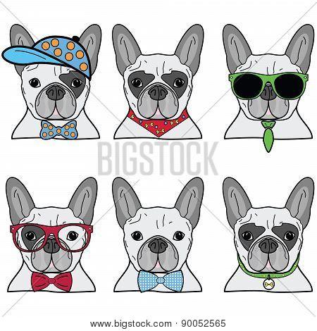 French Bulldog Icons II