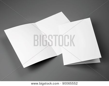 Blank Template Of Folded Brochure A4 Size