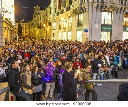 Puppet Show By Night In Madrid