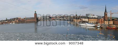 Panorama view of Stockholm city (Sweden)