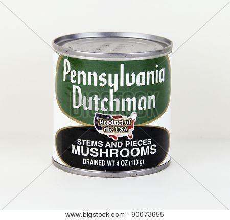 Can Of Pennsylvania Dutchman Mushrooms
