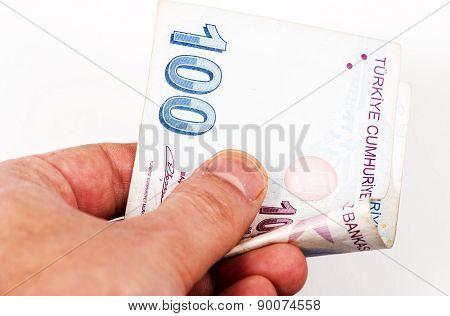 One hundred Turkish Lira