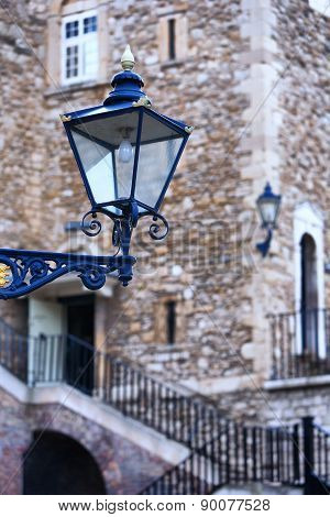 The Old Street Lamp In The Tower Of London