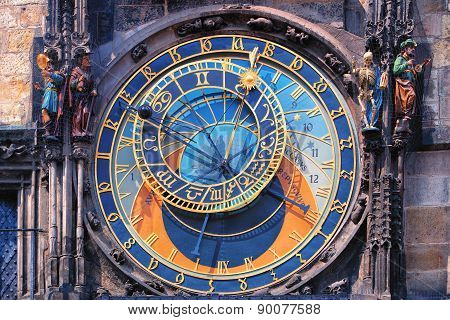 Famous Astronomical Clock Orloj In Prague