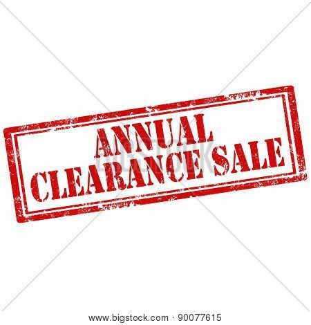 Annual Clearance Sale-stamp
