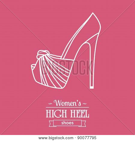 Womens Shoe Background With Text Badge