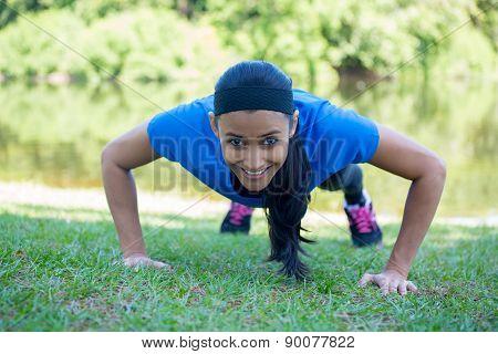 Pushups Exercise Outside