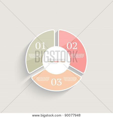 Infographics design template. Business concept with 3 options.