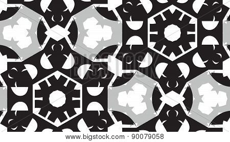 Gray Geometric Shapes Pattern