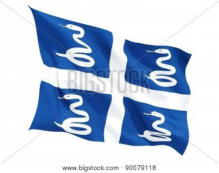 Waving Flag Of Martinique