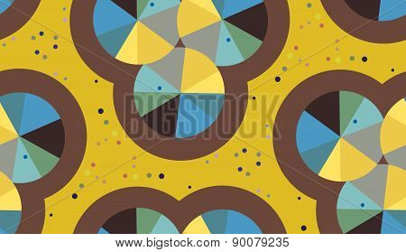 Abstract Pie Chart Pattern