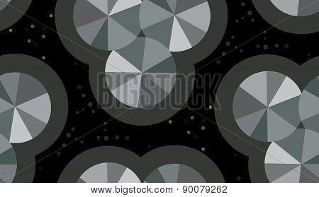 Seamless Gray Wheel Shapes