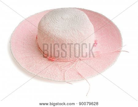 Beautiful summer woman hat  isolated on white