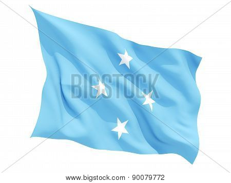 Waving Flag Of Micronesia